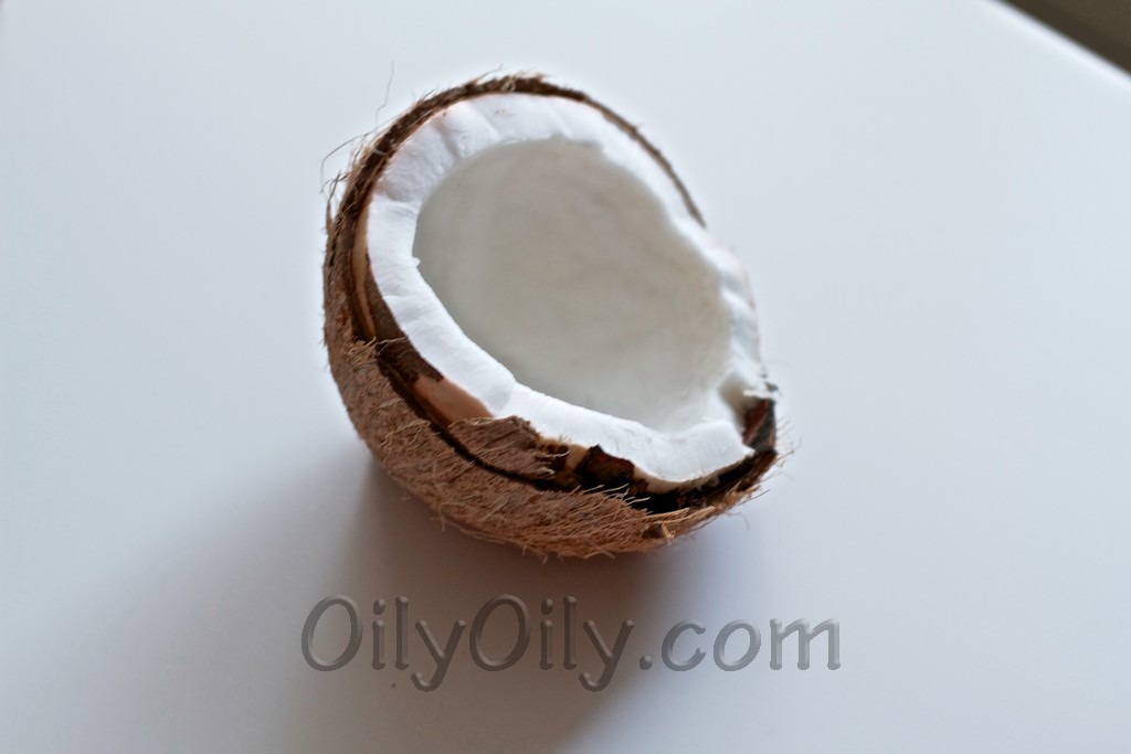eating coconut oil